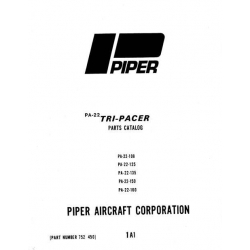 Piper Tri-Pacer Parts Catalog PA-22-108/125/135/150/160 Part # 752-450