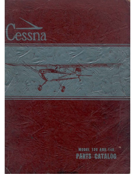 Cessna Model 120 and 170 Illustrated Parts Catalog 1954