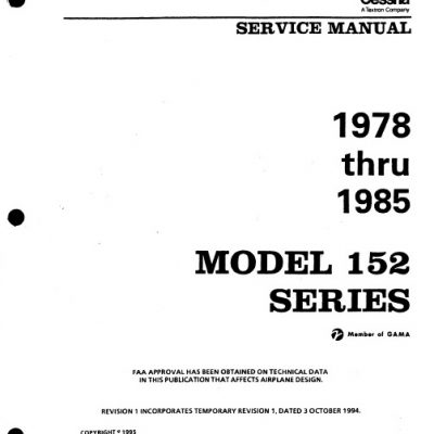 Cessna Model 152 Series 1978 Thru 1985 Service Manual