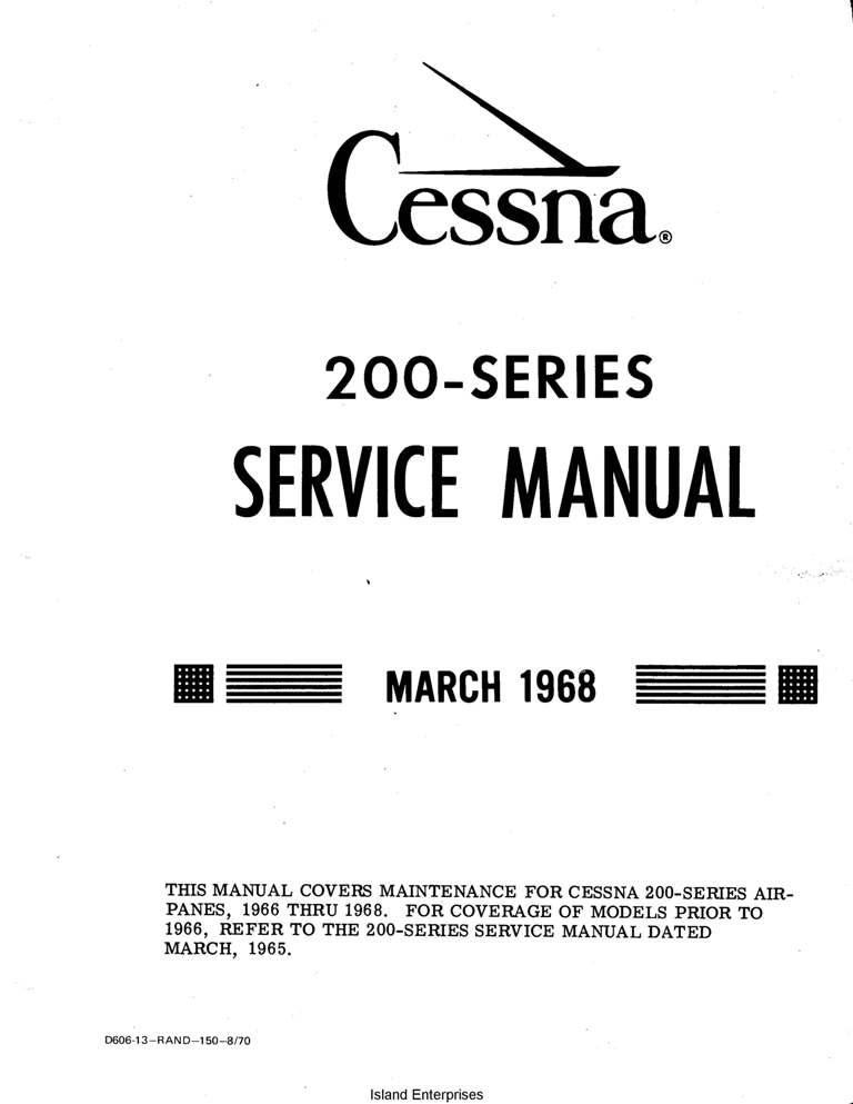 Cessna 208 maintenance manual download