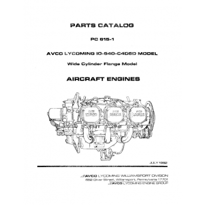 Piper Tri-Pacer Parts Catalog PA-22-108/125/135/150/160 Part