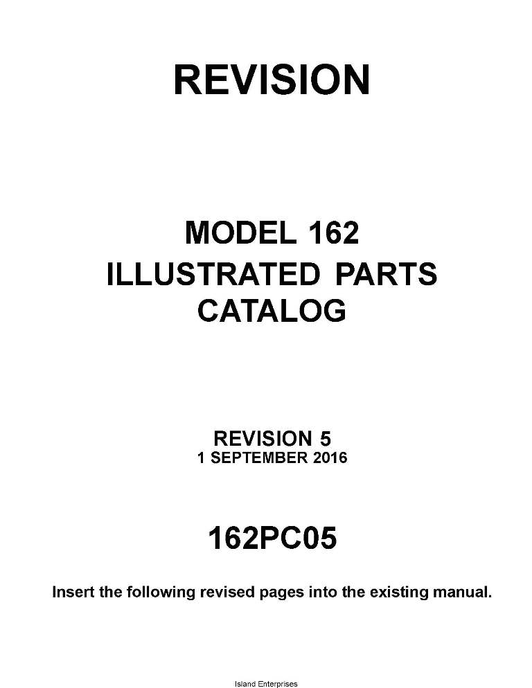 Cessna Model 162 Illustrated Parts Catalog 162PC05 2016