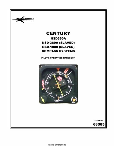 Century NSD 360A And NSD 1000 Compass Systems 68S85 Pilot S Operating Handbook